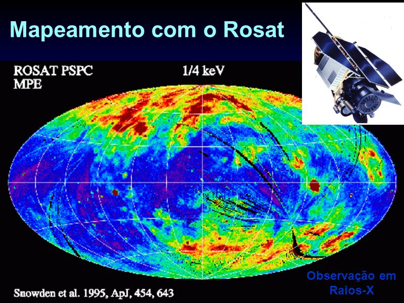 Mapeamento com o Rosat Observação em Raios-X