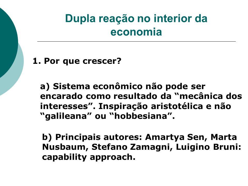 Dupla reação no interior da economia