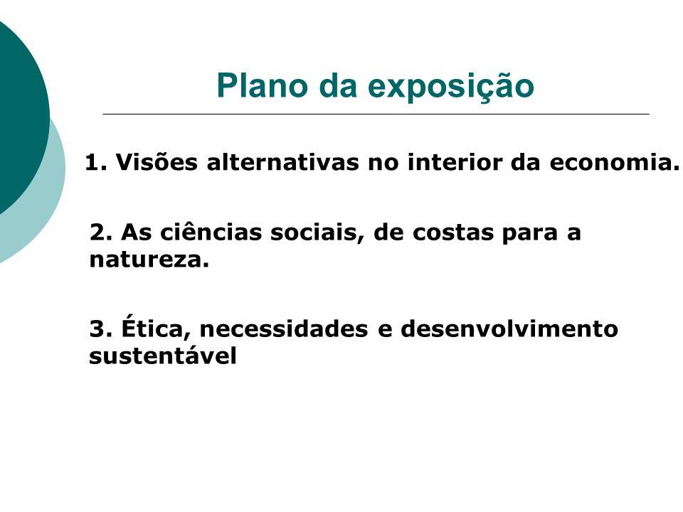 Plano da exposição 1. Visões alternativas no interior da economia.
