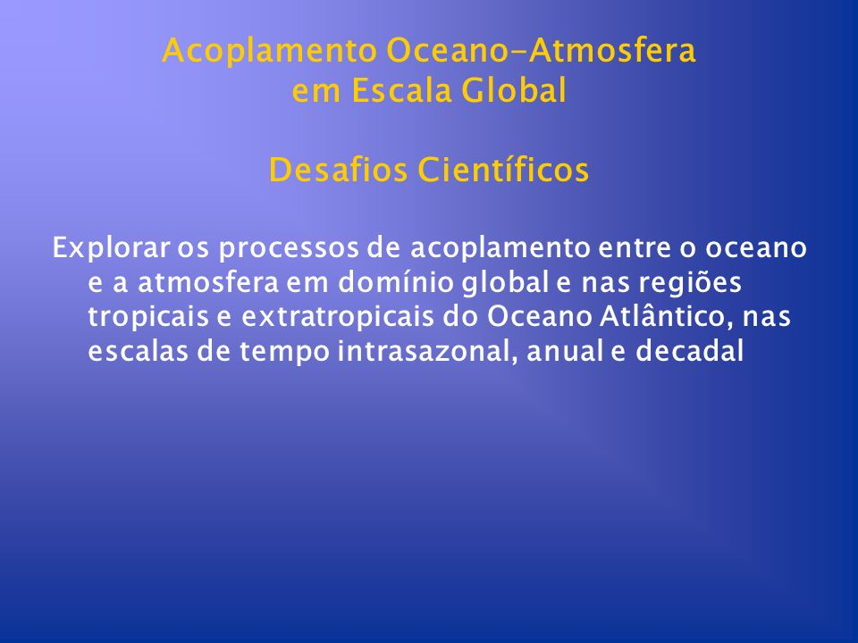 Acoplamento Oceano-Atmosfera