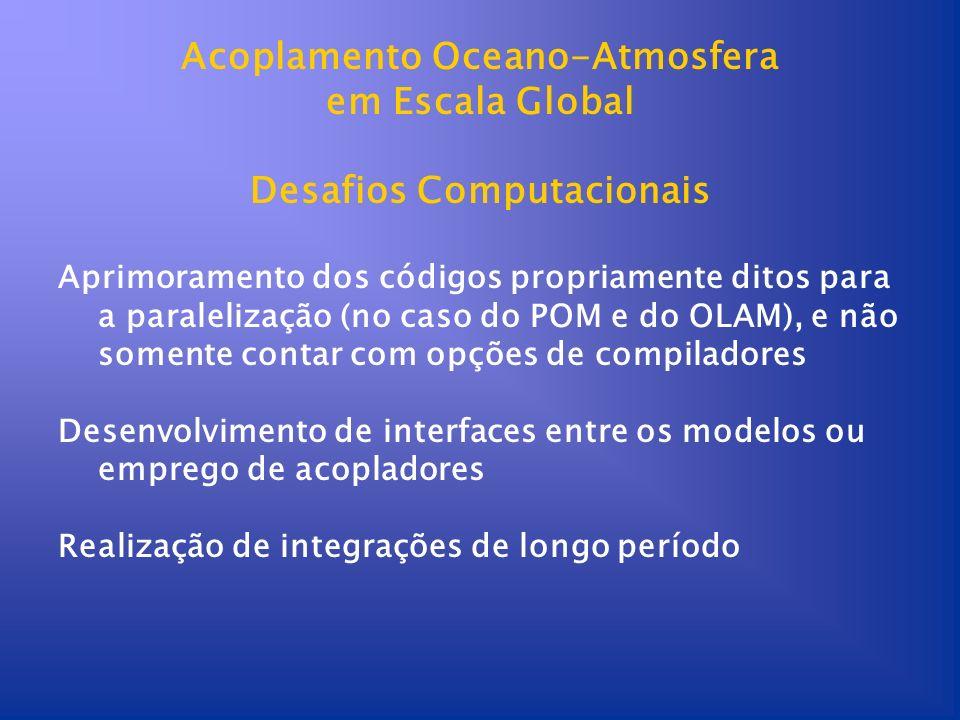 Acoplamento Oceano-Atmosfera Desafios Computacionais