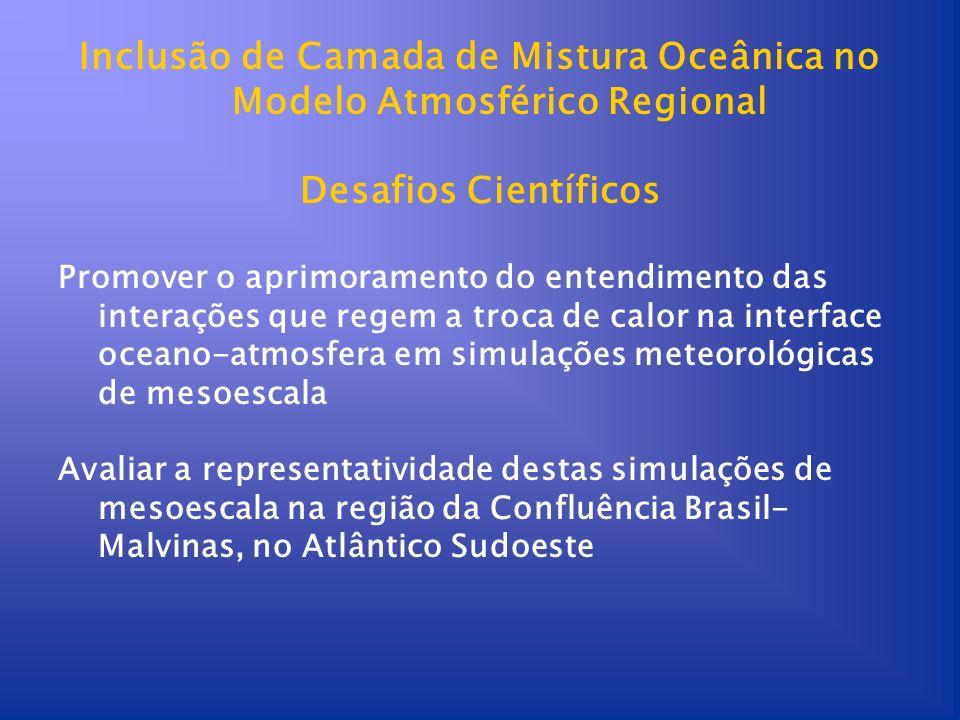Inclusão de Camada de Mistura Oceânica no Modelo Atmosférico Regional