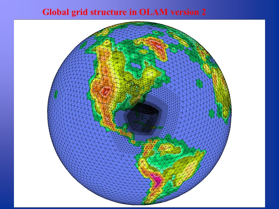 Global grid structure in OLAM version 2