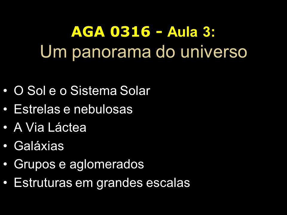 AGA 0316 - Aula 3: Um panorama do universo