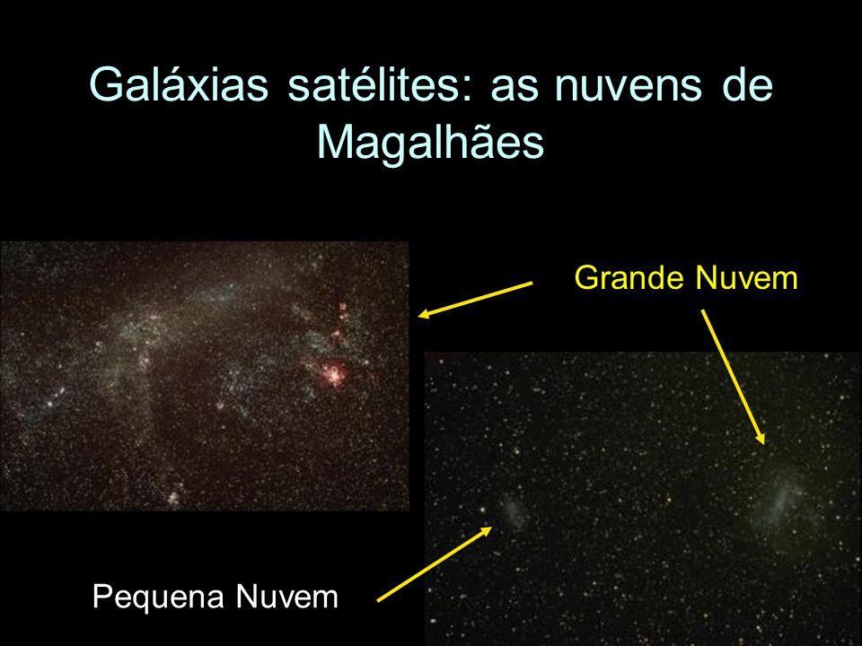 Galáxias satélites: as nuvens de Magalhães