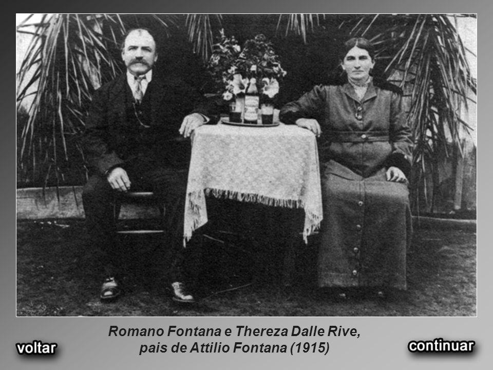 Romano Fontana e Thereza Dalle Rive, pais de Attilio Fontana (1915)