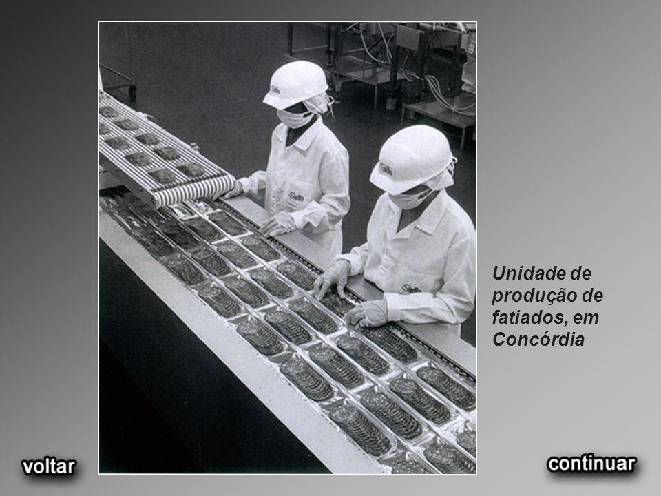 Unidade de produção de fatiados, em Concórdia