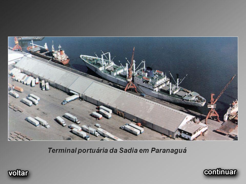 Terminal portuária da Sadia em Paranaguá