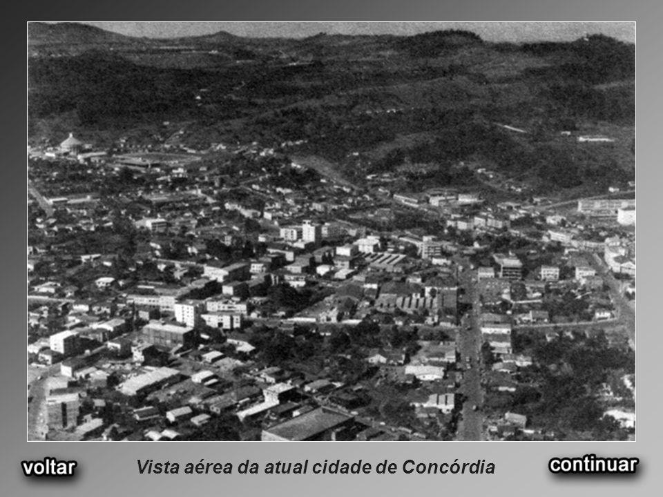 Vista aérea da atual cidade de Concórdia