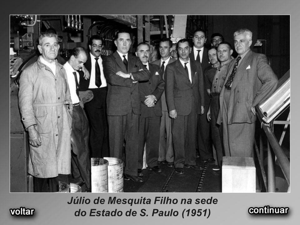 Júlio de Mesquita Filho na sede do Estado de S. Paulo (1951)