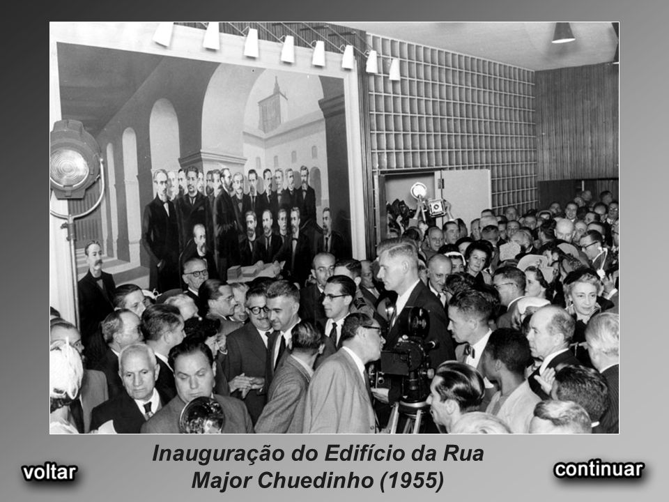Inauguração do Edifício da Rua Major Chuedinho (1955)