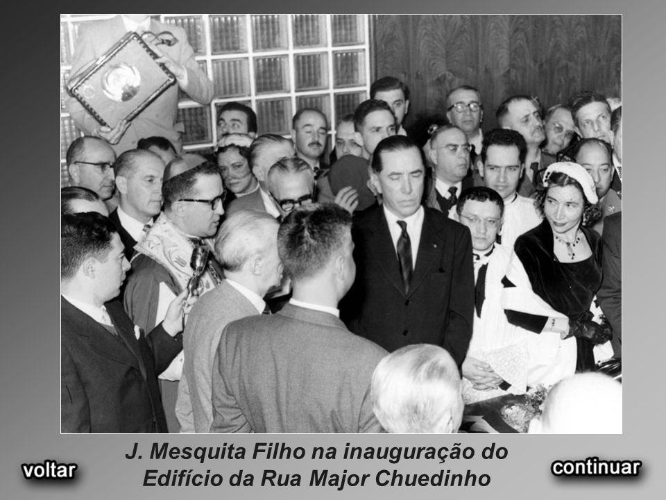 J. Mesquita Filho na inauguração do Edifício da Rua Major Chuedinho