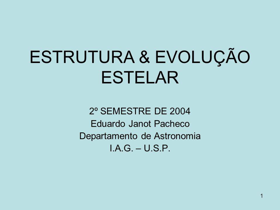 ESTRUTURA & EVOLUÇÃO ESTELAR