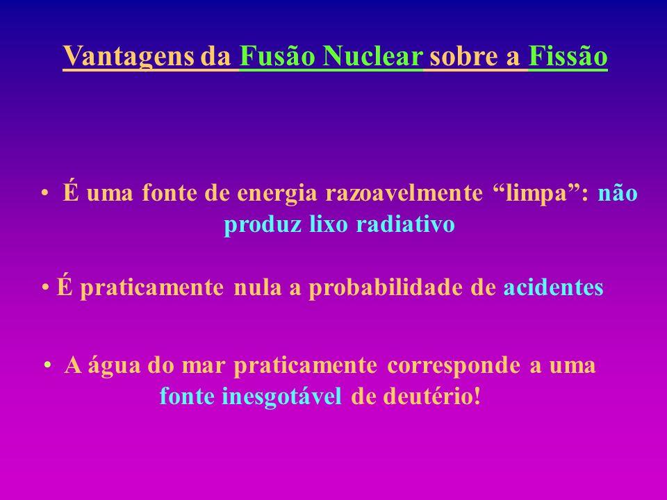 Vantagens da Fusão Nuclear sobre a Fissão