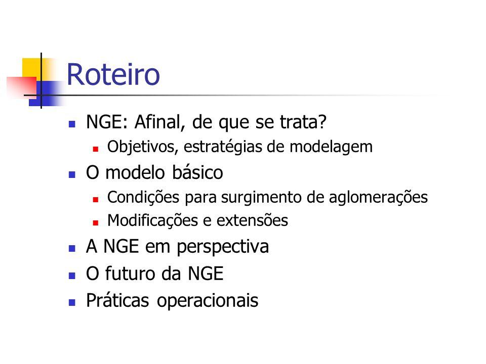 Roteiro NGE: Afinal, de que se trata O modelo básico