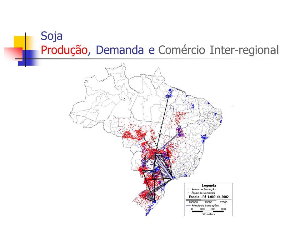 Soja Produção, Demanda e Comércio Inter-regional