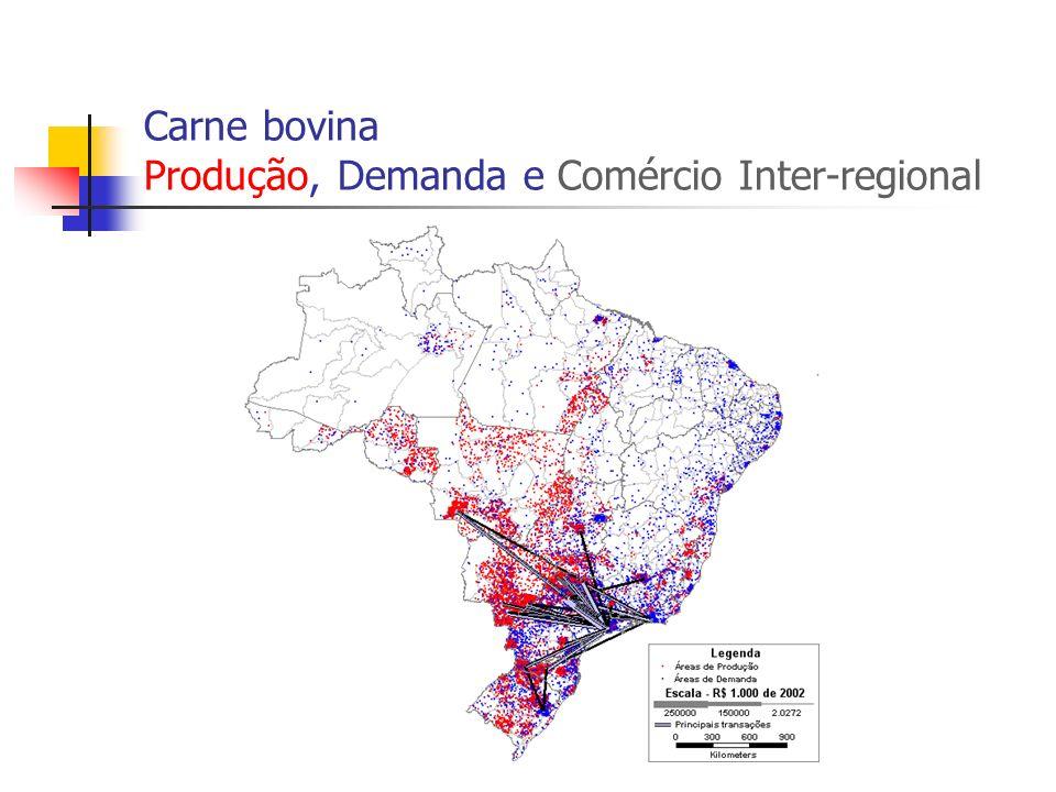 Carne bovina Produção, Demanda e Comércio Inter-regional