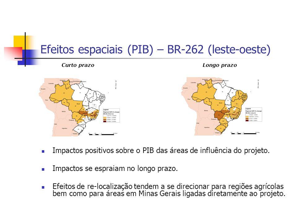 Efeitos espaciais (PIB) – BR-262 (leste-oeste)