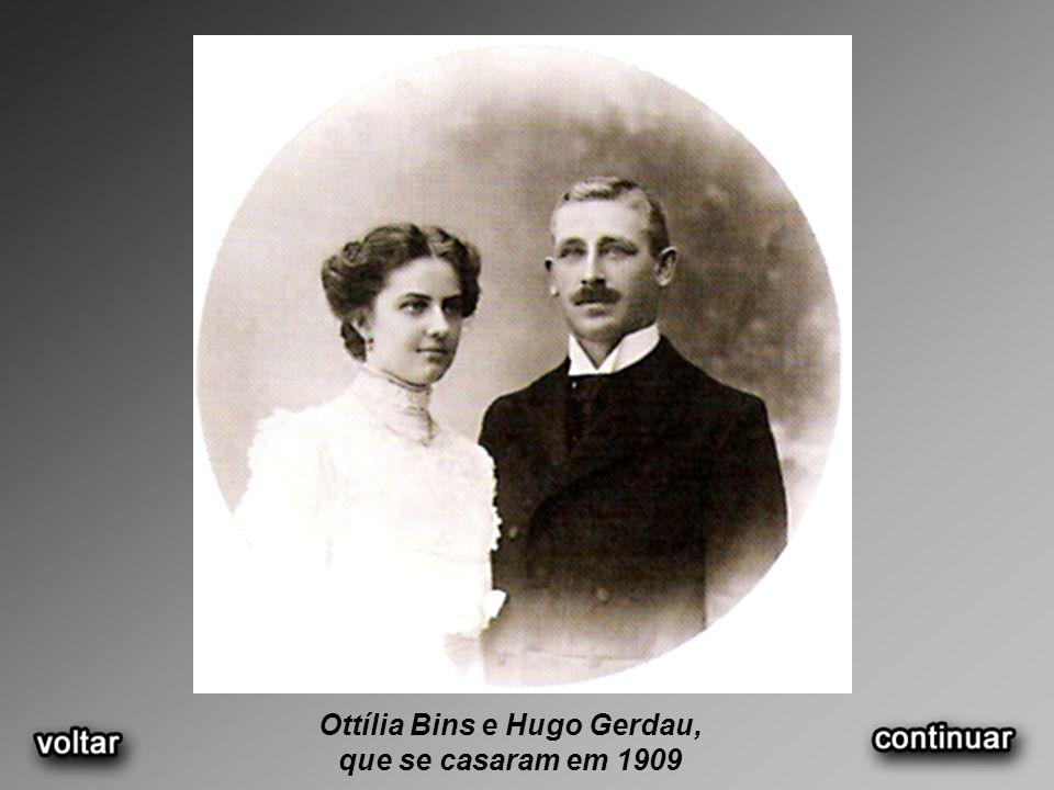 Ottília Bins e Hugo Gerdau,