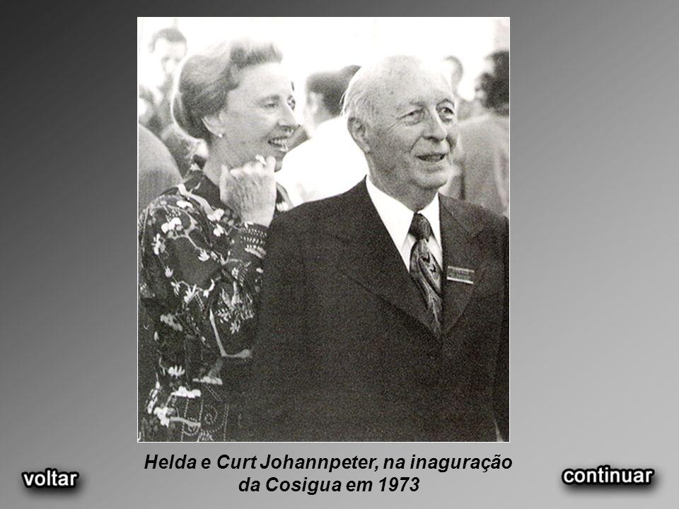 Helda e Curt Johannpeter, na inaguração