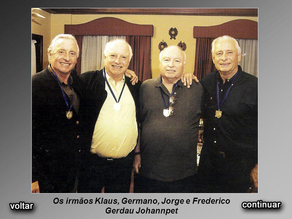 Os irmãos Klaus, Germano, Jorge e Frederico Gerdau Johannpet
