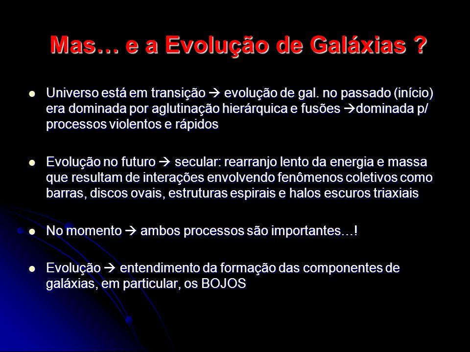 Mas… e a Evolução de Galáxias