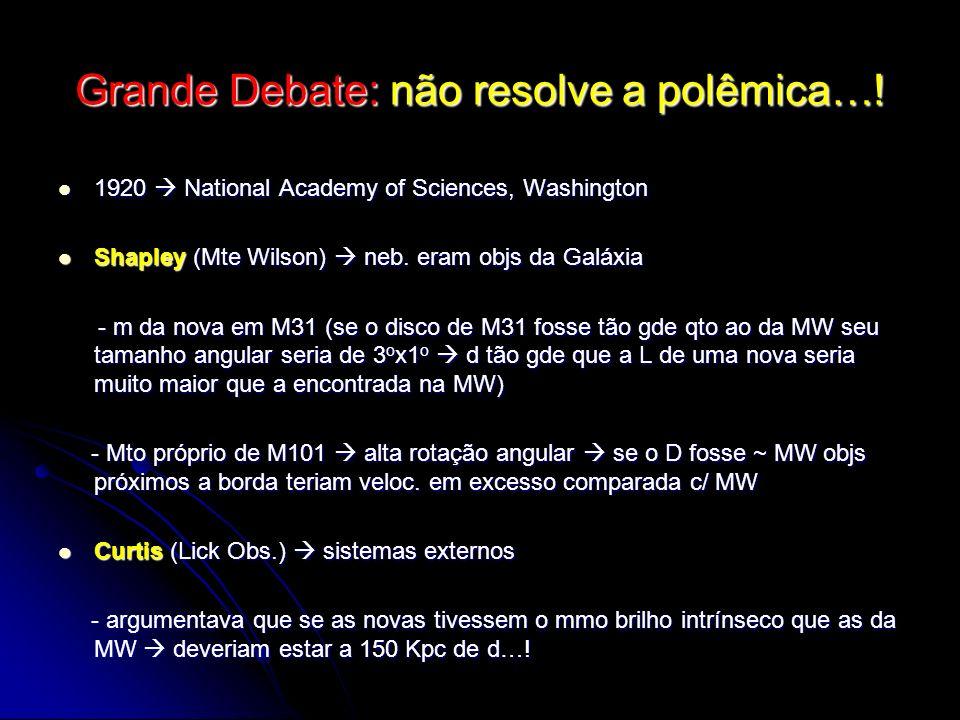 Grande Debate: não resolve a polêmica…!
