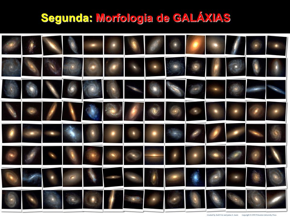 Segunda: Morfologia de GALÁXIAS
