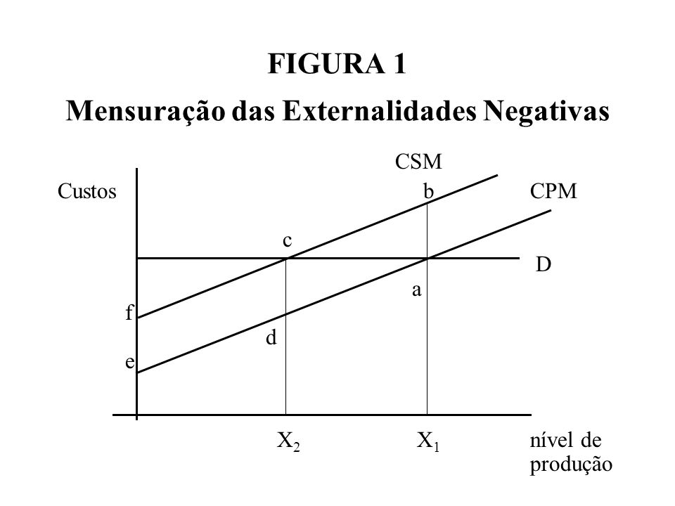 FIGURA 1 Mensuração das Externalidades Negativas