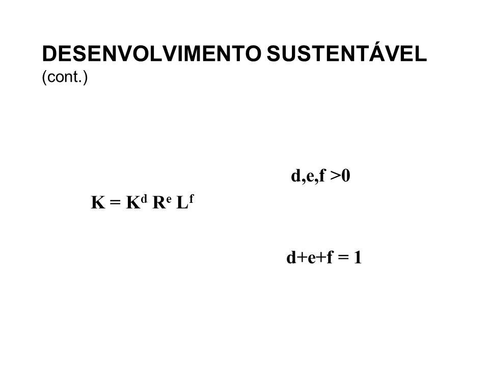 DESENVOLVIMENTO SUSTENTÁVEL (cont.)