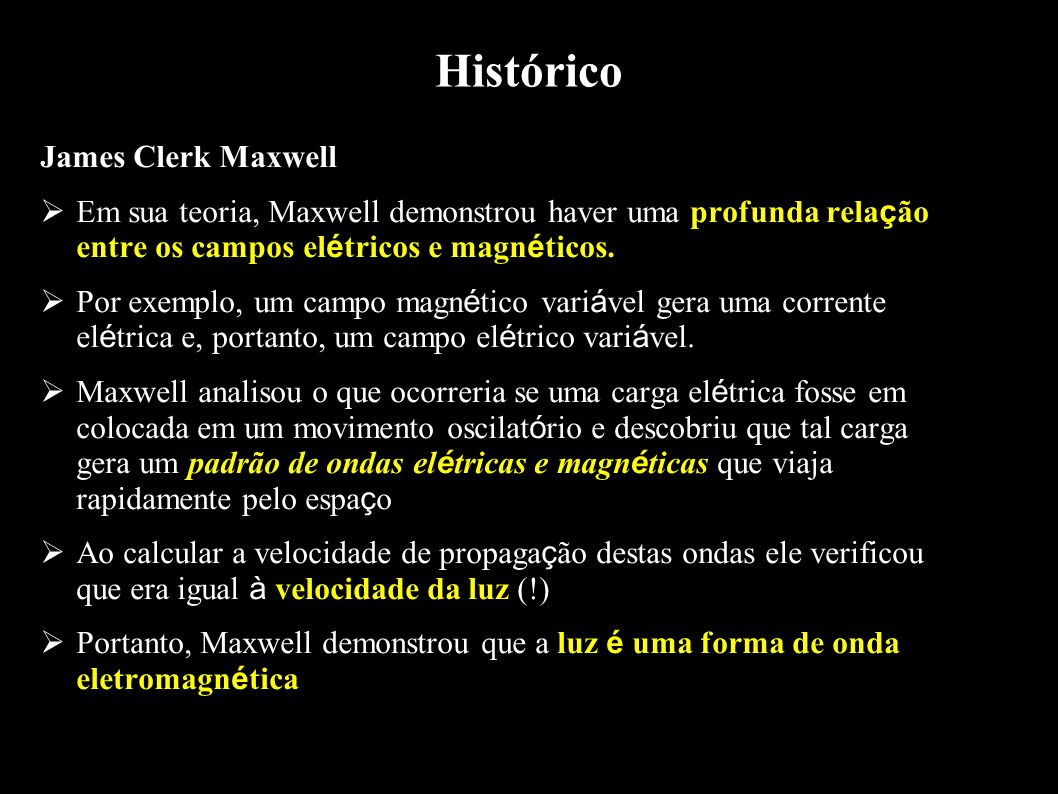 Histórico James Clerk Maxwell