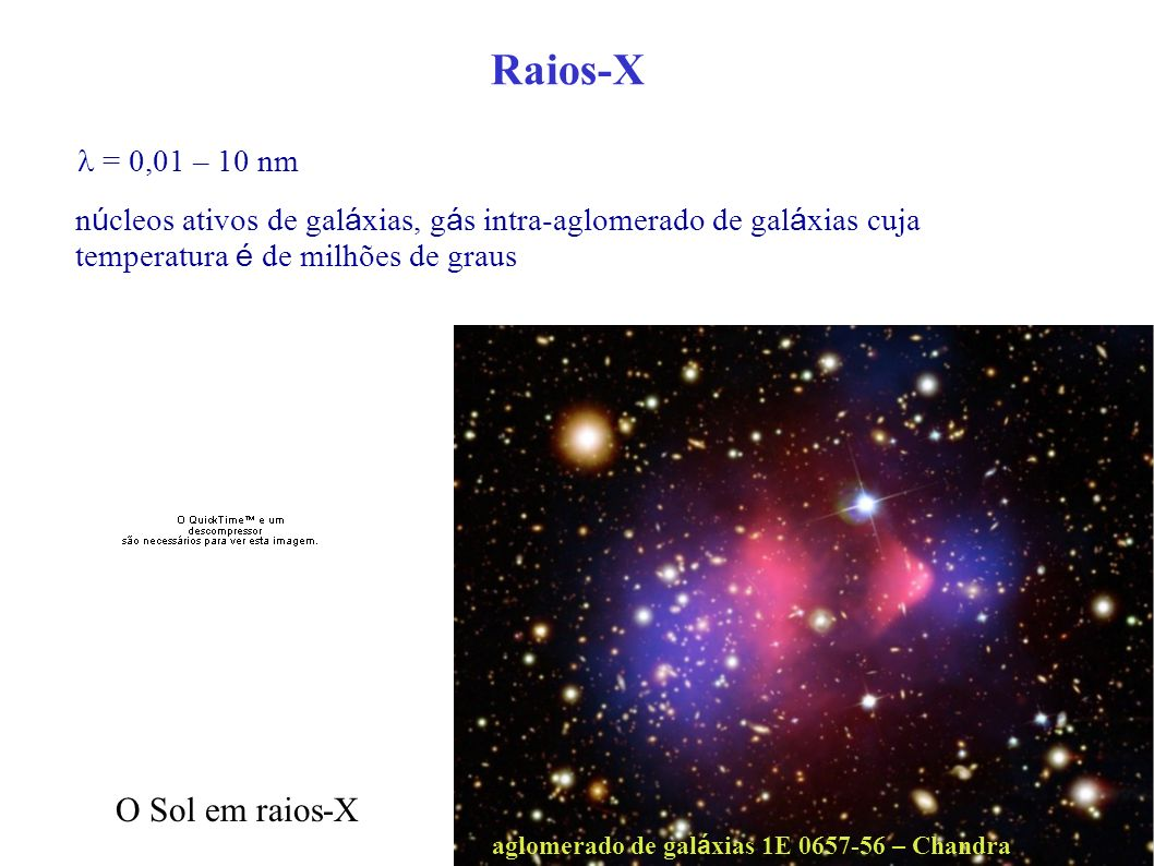 Raios-X O Sol em raios-X l = 0,01 – 10 nm