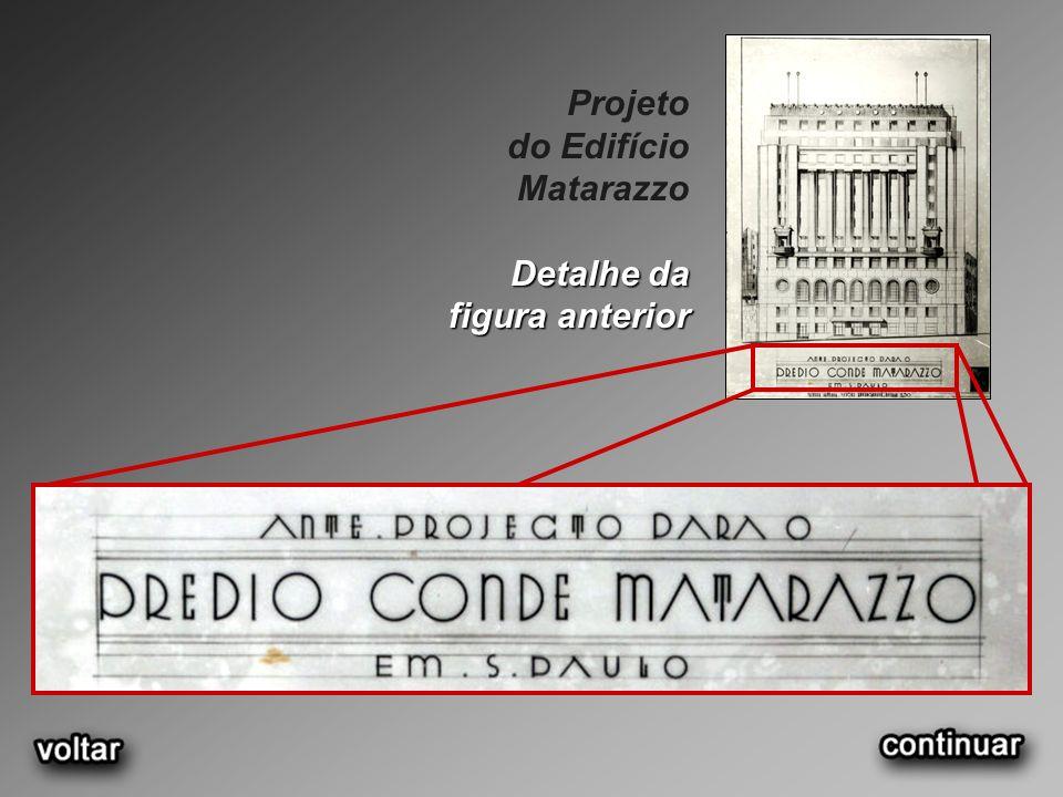 Projeto do Edifício Matarazzo Detalhe da figura anterior