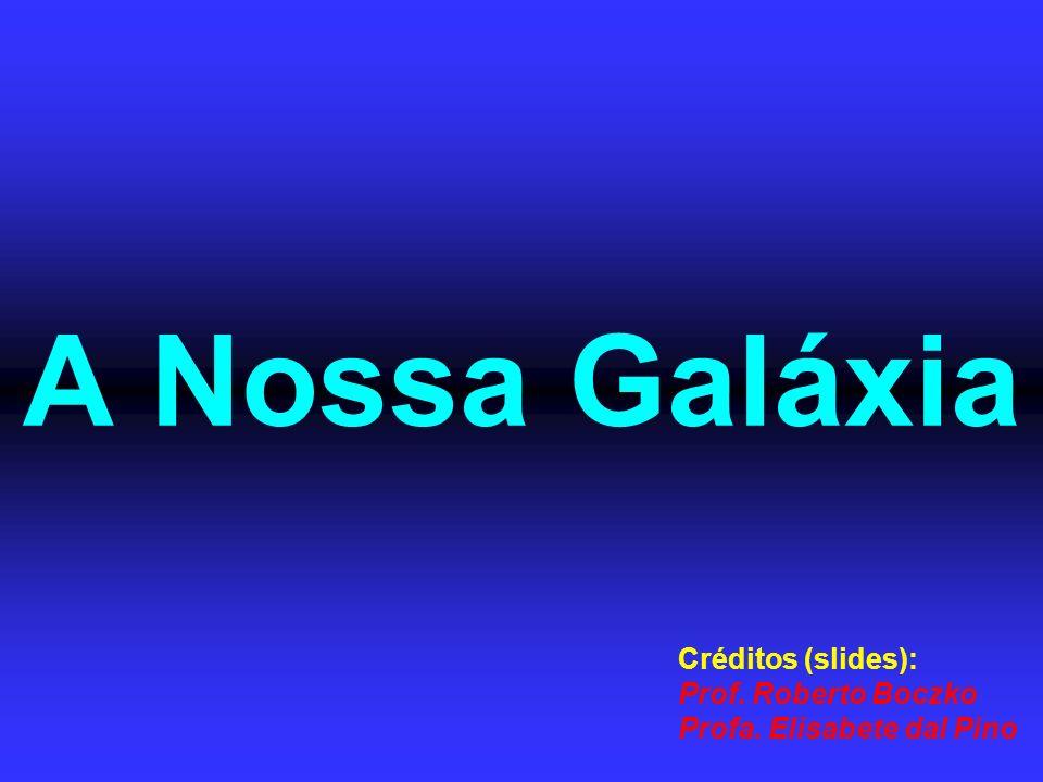 A Nossa Galáxia Créditos (slides): Prof. Roberto Boczko