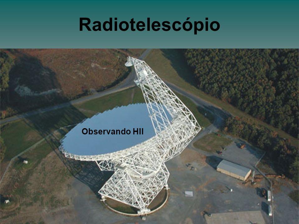 Radiotelescópio Observando HII