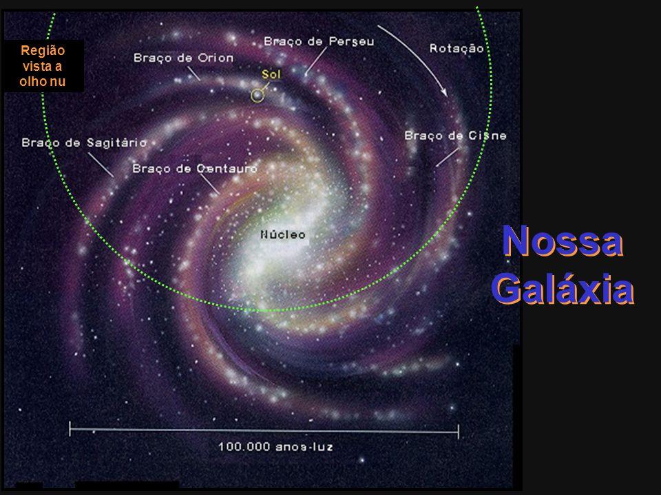 Região vista a olho nu Nossa Galáxia