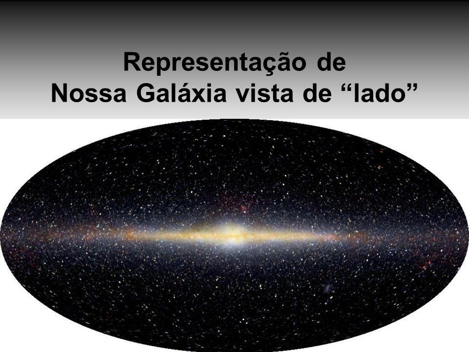 Representação de Nossa Galáxia vista de lado