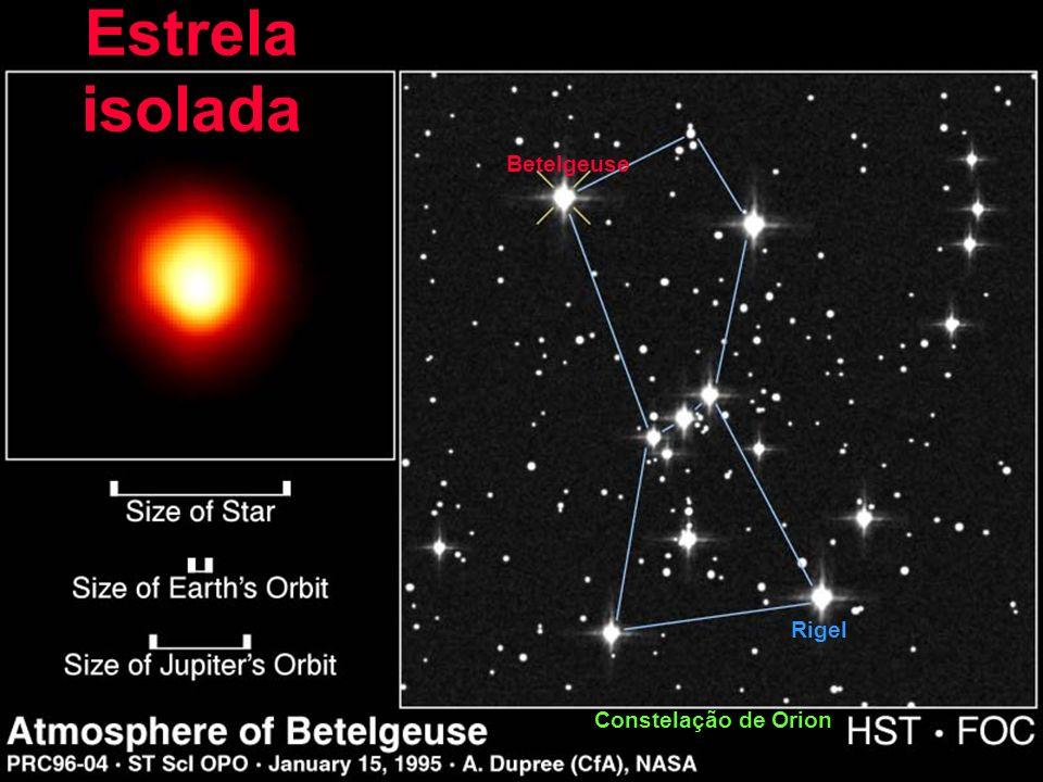 Estrela isolada Betelgeuse Rigel Constelação de Orion