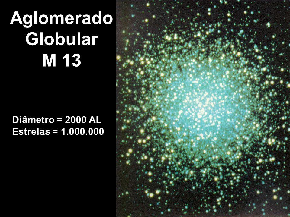 Aglomerado Globular M 13 Diâmetro = 2000 AL Estrelas = 1.000.000
