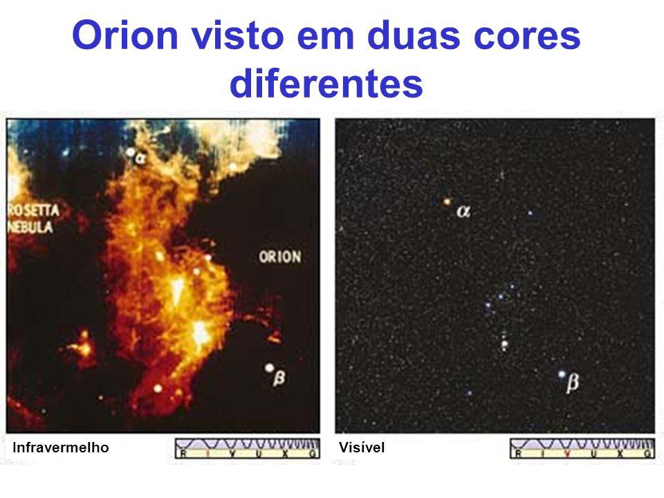 Orion visto em duas cores diferentes