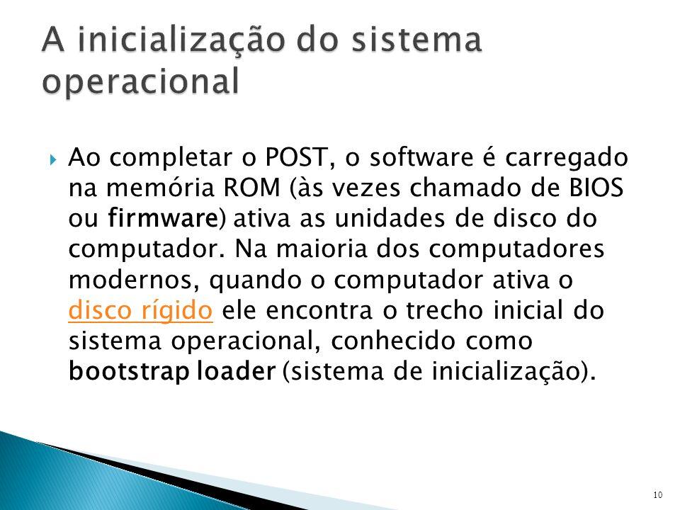 A inicialização do sistema operacional