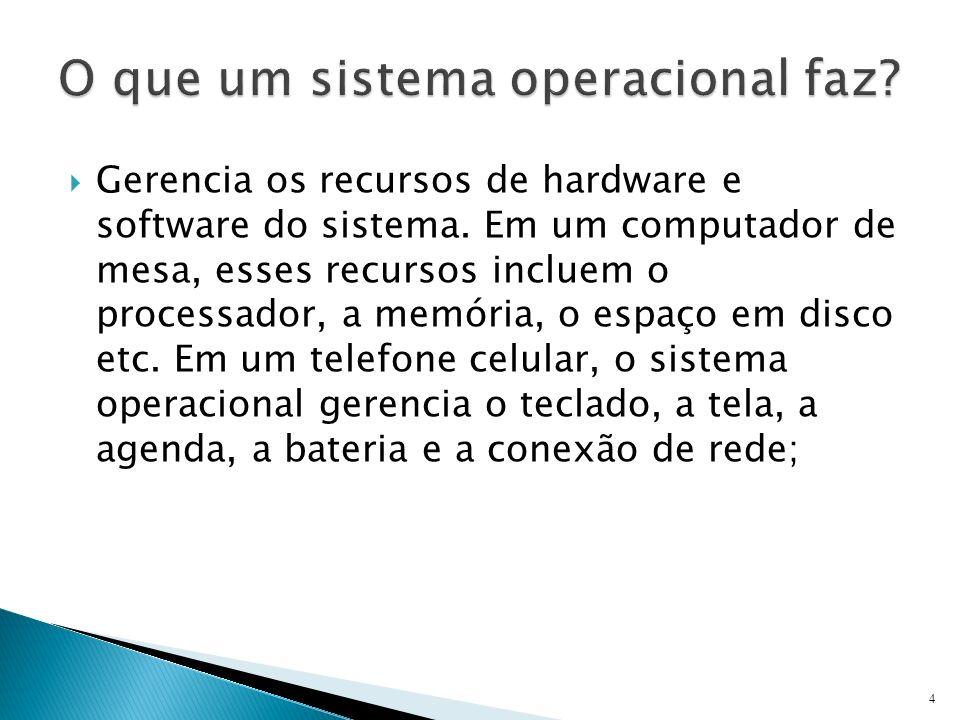 O que um sistema operacional faz