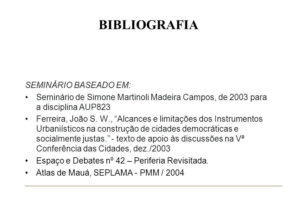 BIBLIOGRAFIA SEMINÁRIO BASEADO EM: