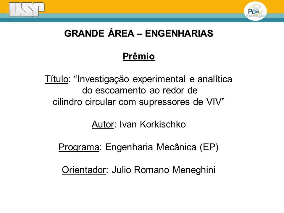 GRANDE ÁREA – ENGENHARIAS Prêmio