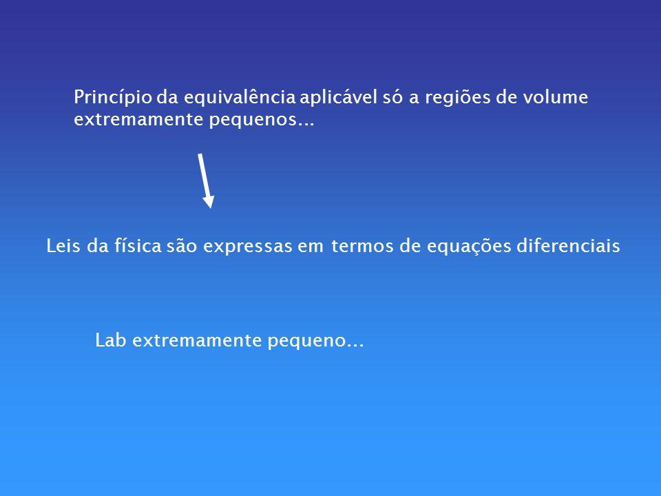 Princípio da equivalência aplicável só a regiões de volume