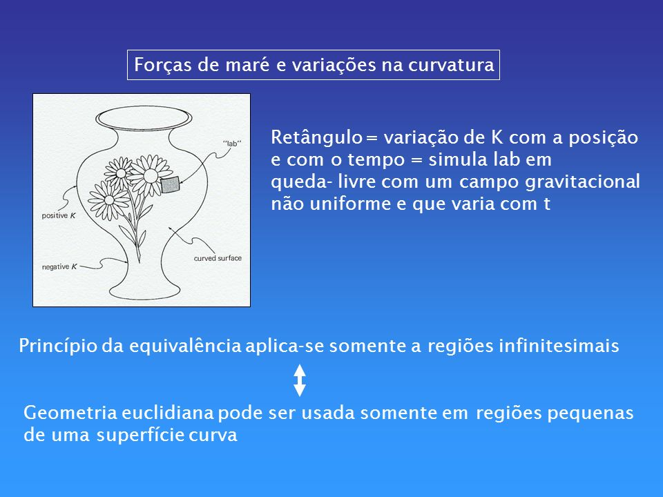 Forças de maré e variações na curvatura