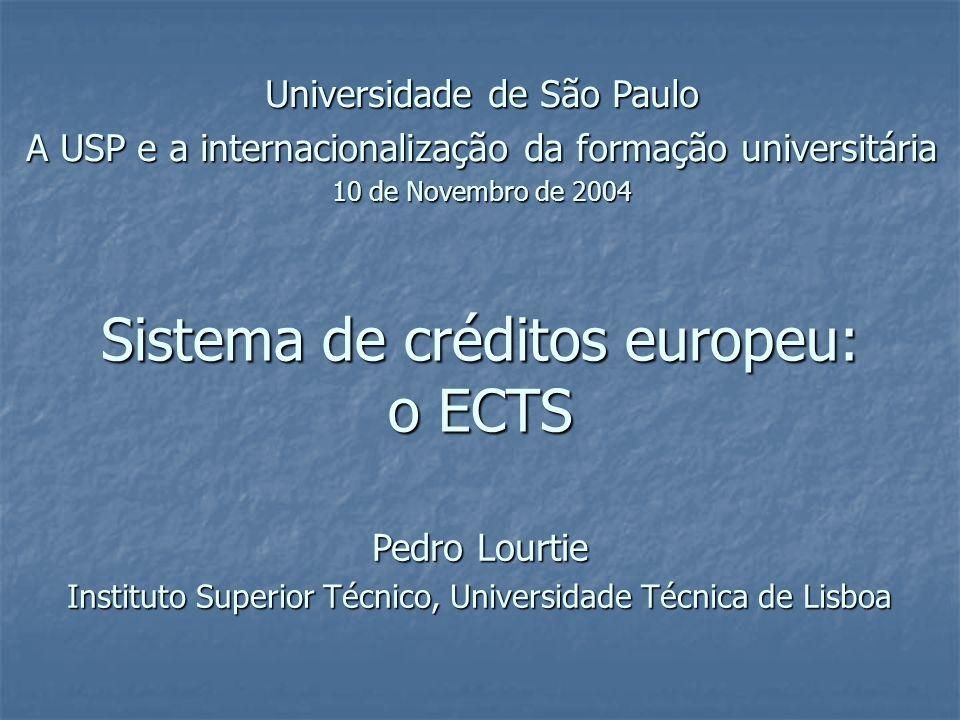 Sistema de créditos europeu: o ECTS