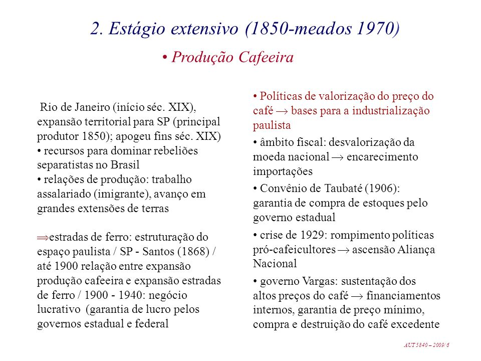 2. Estágio extensivo (1850-meados 1970)