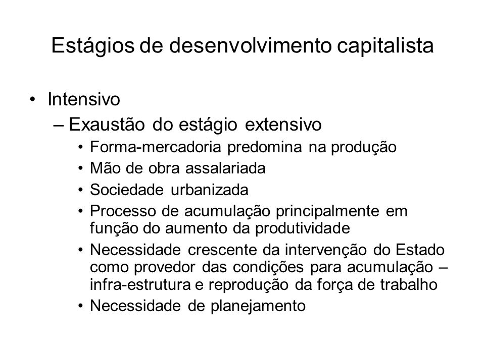 Estágios de desenvolvimento capitalista