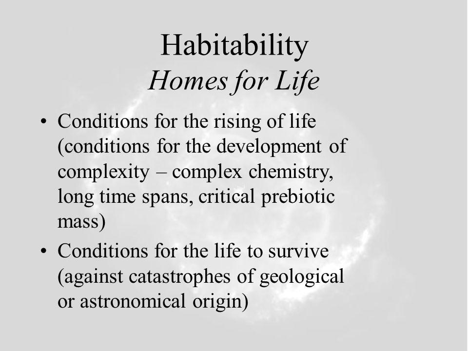 Habitability Homes for Life